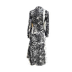 Black Snake Print Wrap Dress
