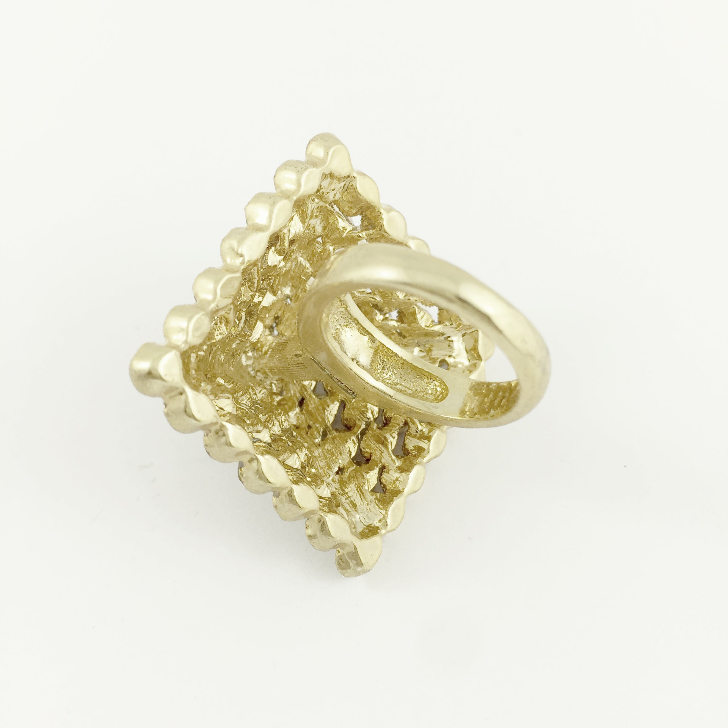 Pyramid Gold Ring