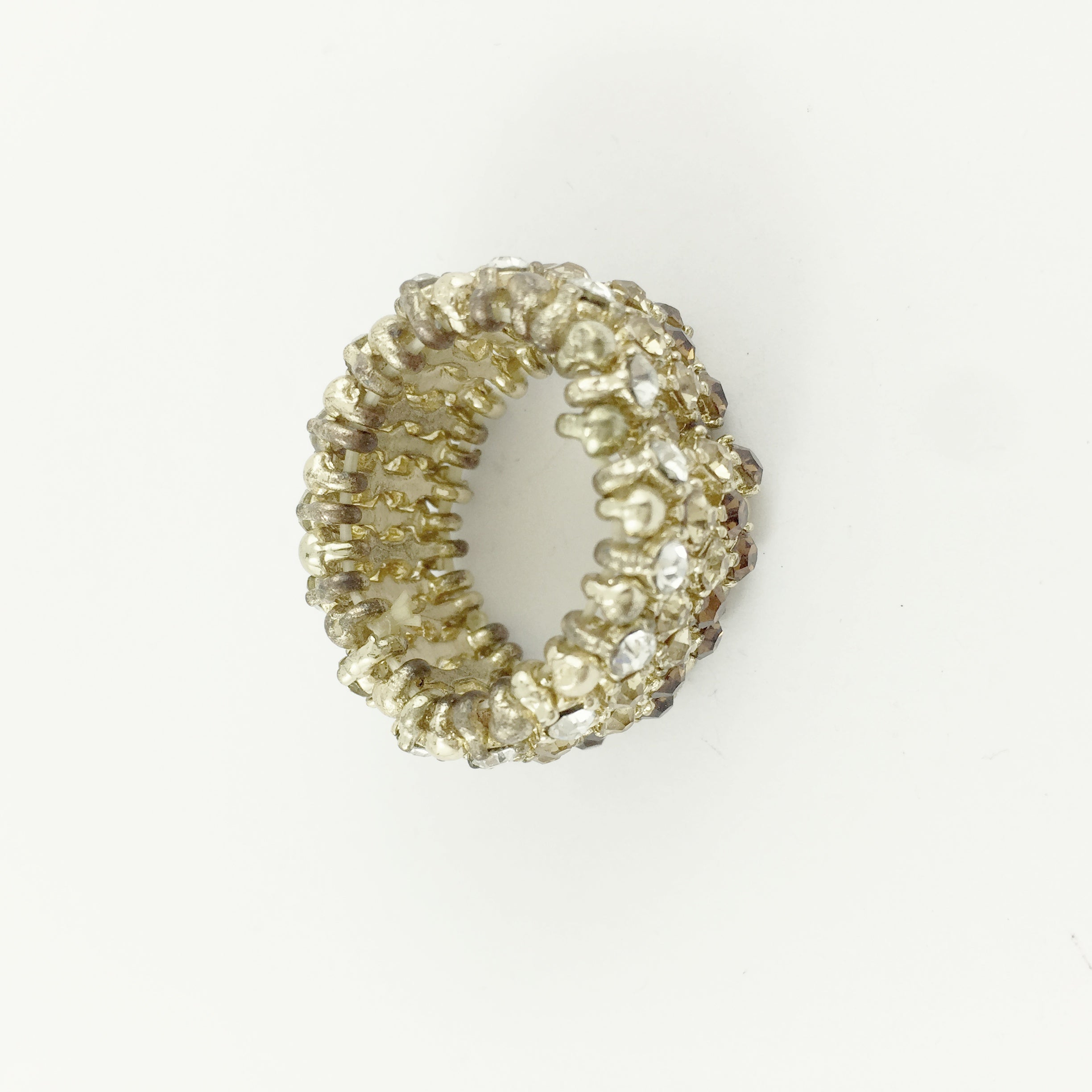 Boho Diamante Stretch Gold Ring