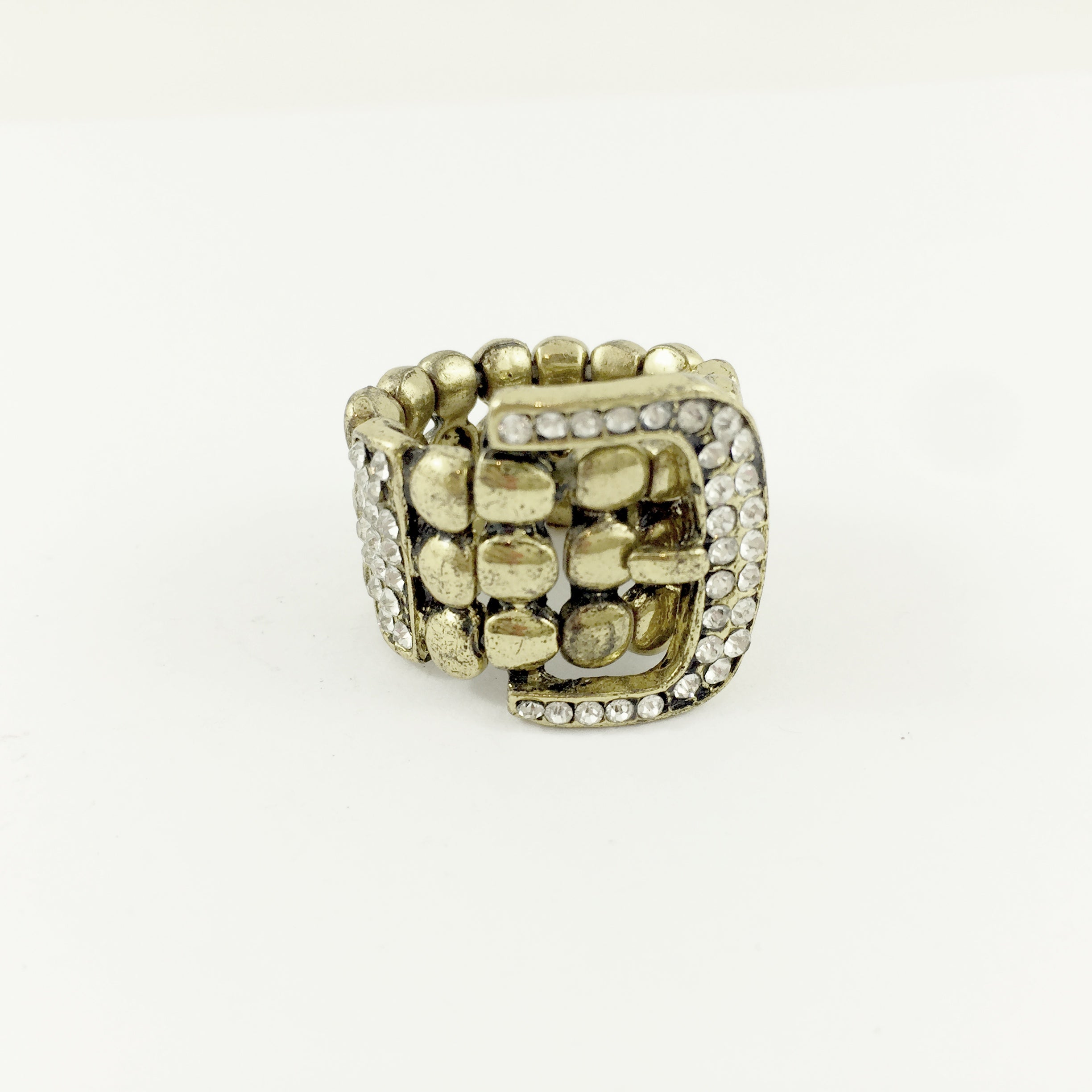 Belt Diamante Gold Ring