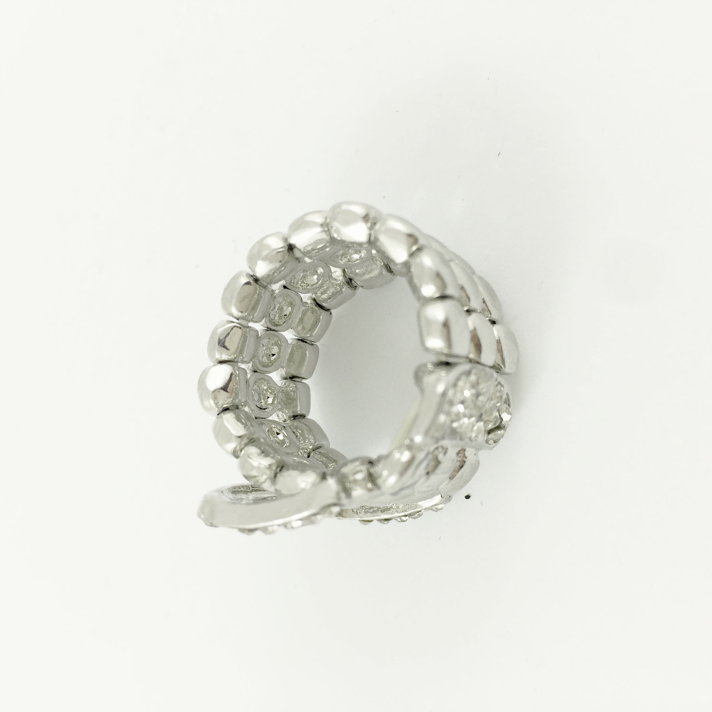 Belt Diamante Silver Ring