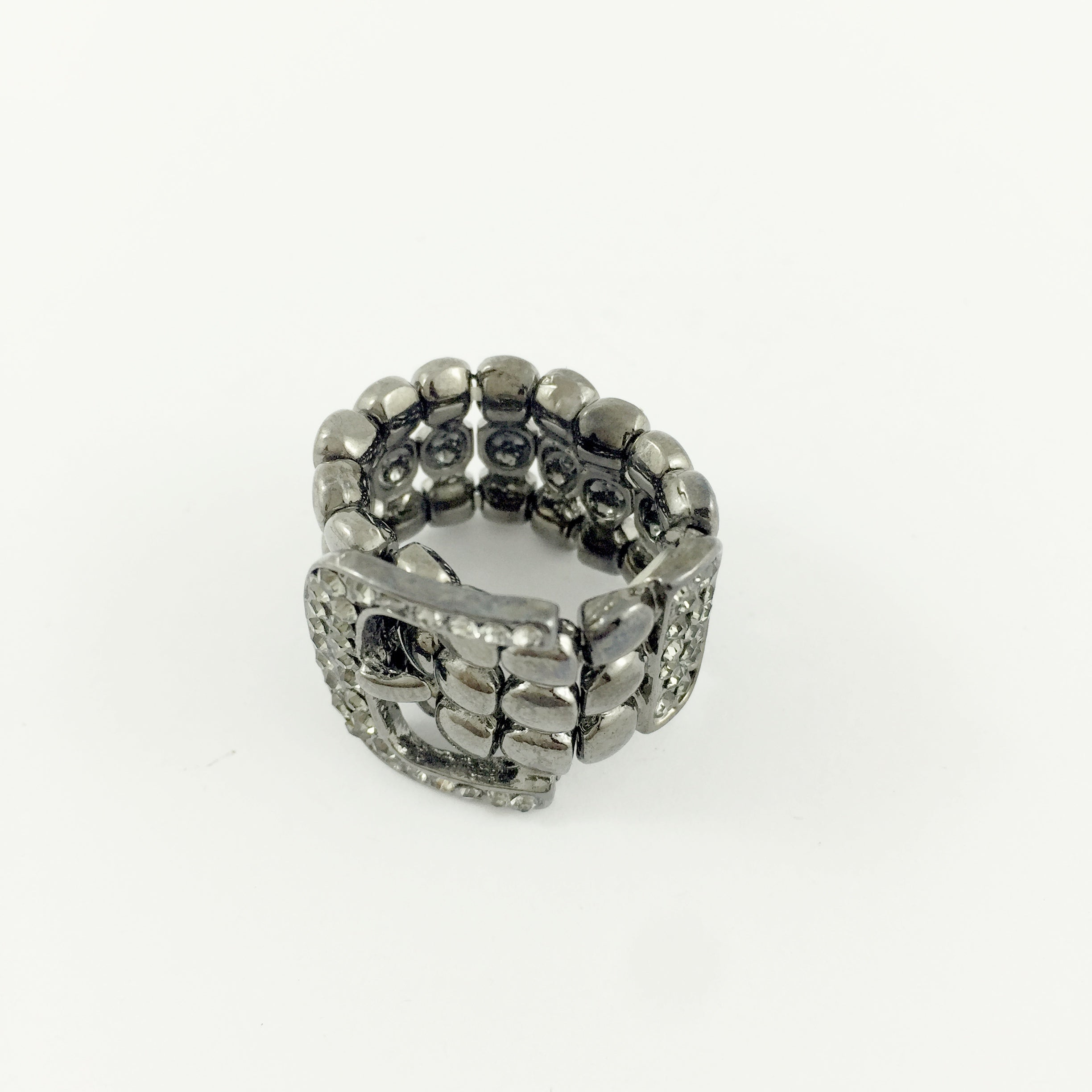 Belt Diamante Black Ring