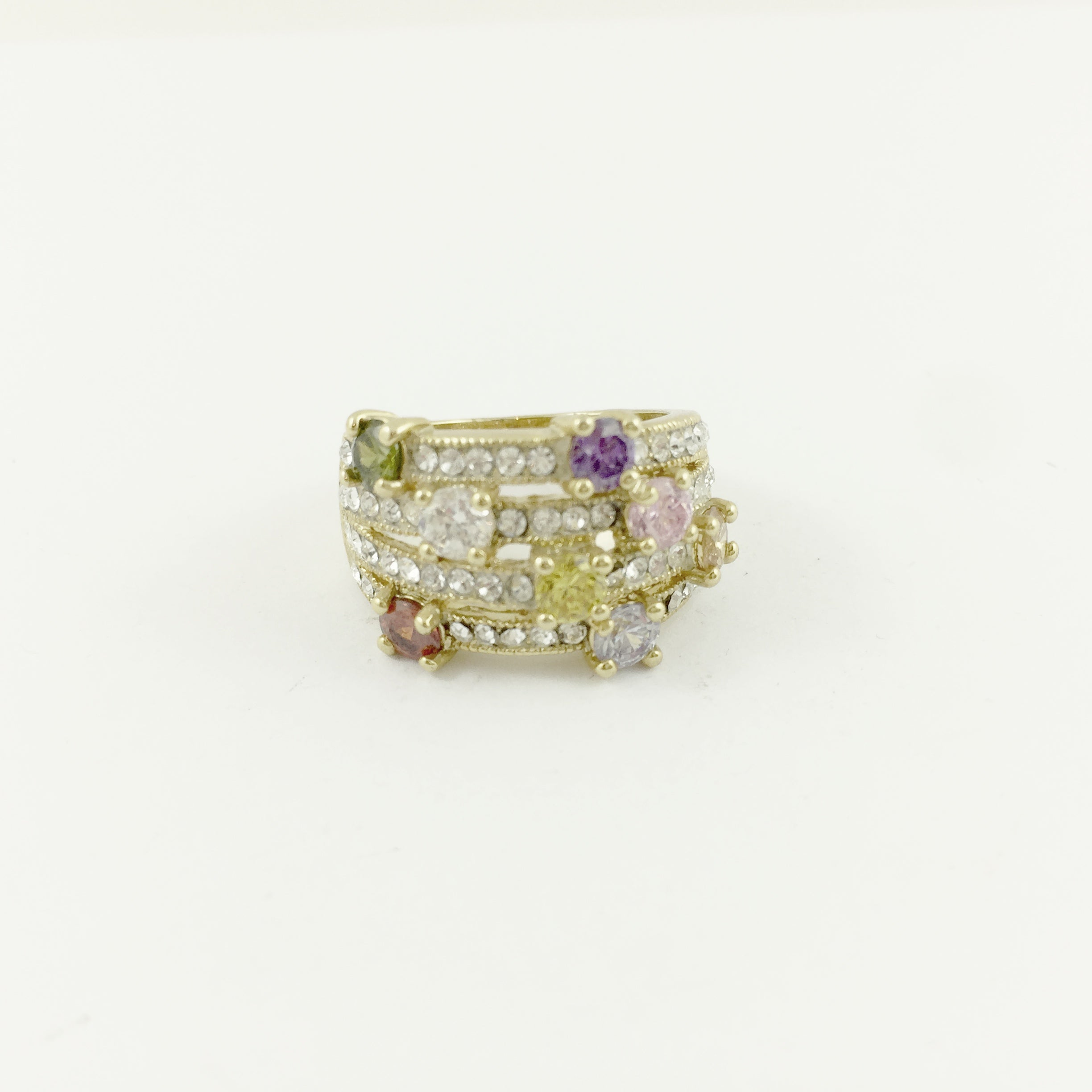 Colourful Crystal Ring