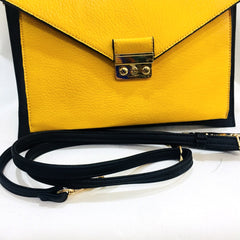 Blanco Chevron Black & Yellow Clutch Bag