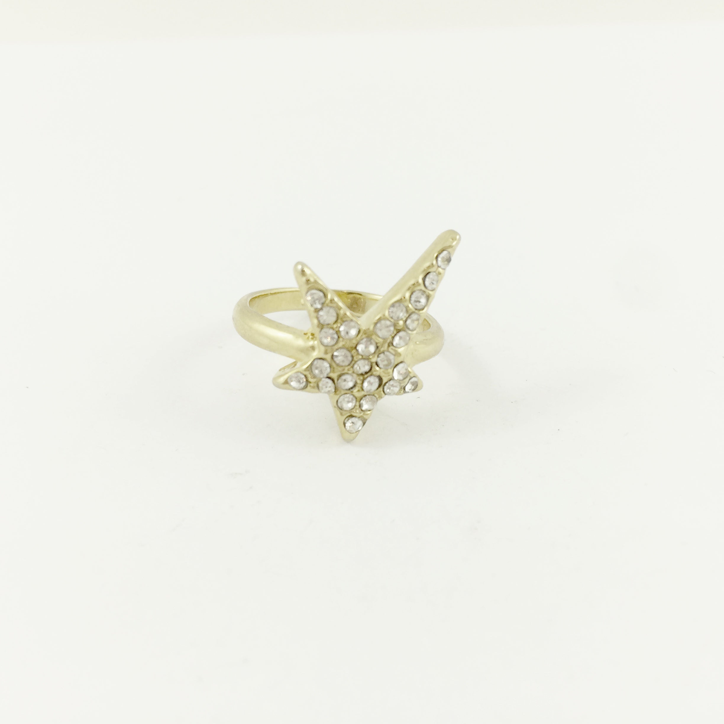 Star Diamante Gold Ring