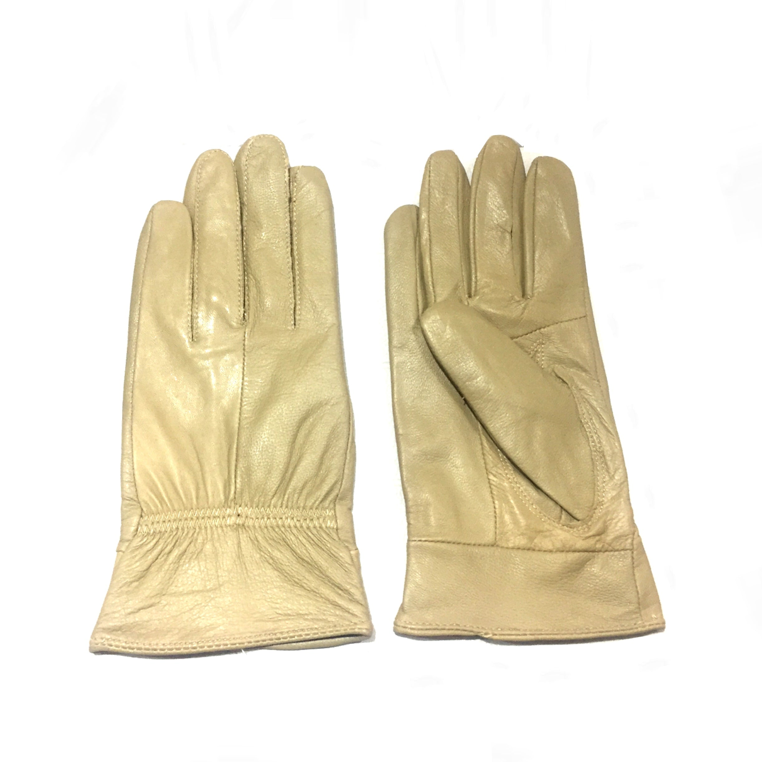 Nude Leather Gloves