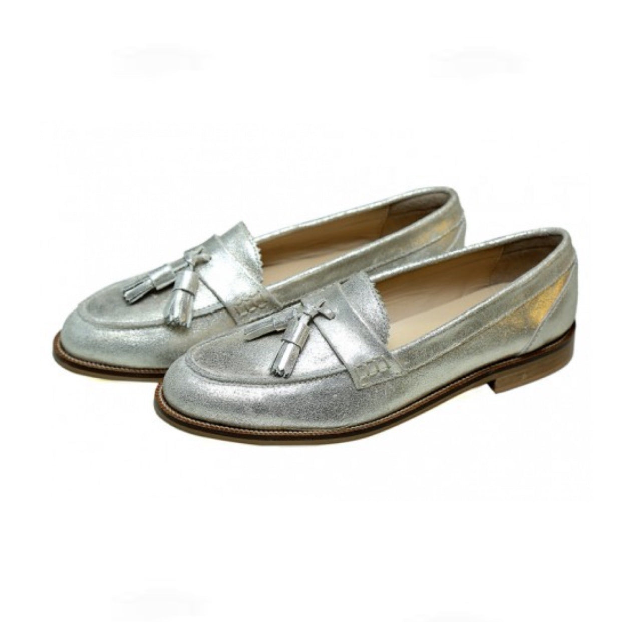 Silver Kiltie- Designer Shoes