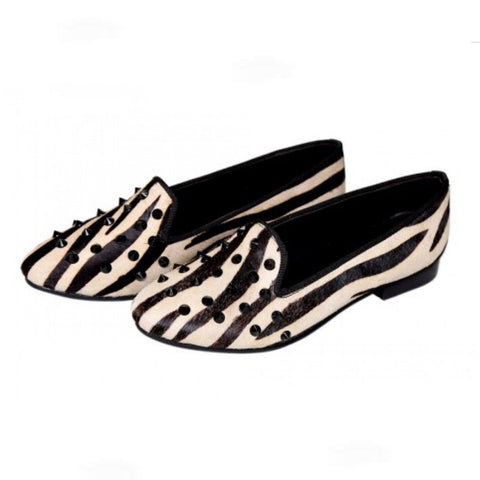 Zebra Toe Studded- Designer Shoes