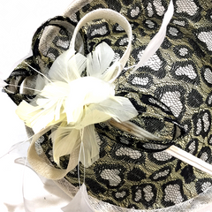 Exotic Leopard-Print Fascinator Hat