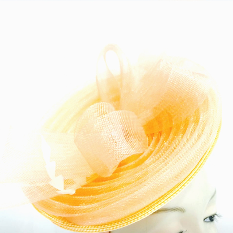 Layered Sinamay Saucer Fascinator Hat