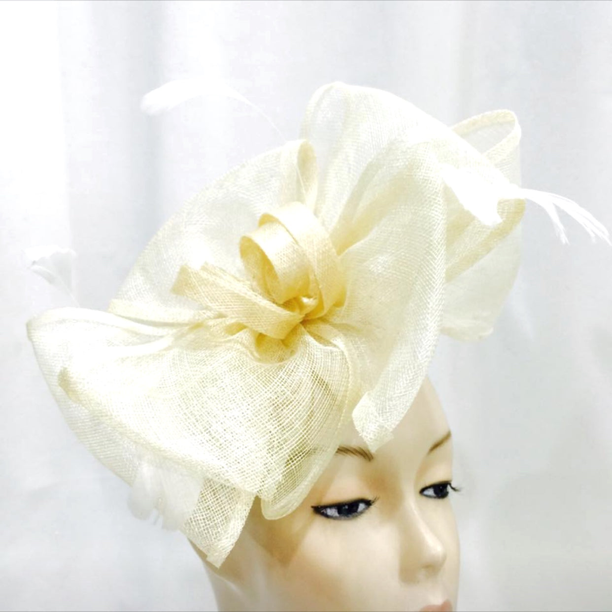 Large Double Ruffle Bow Fascinator