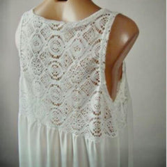 Lace Pattern Open Top