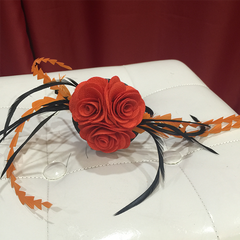 Triple Rose Flamenco-Inspired Fascinator