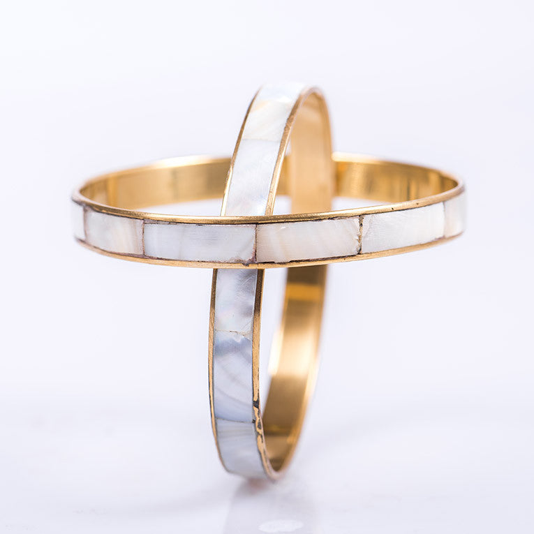 Mother-of-Pearl Two Bangles