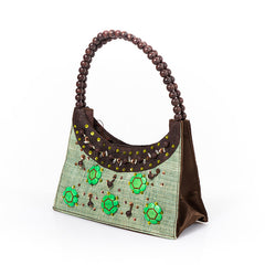 Unique Jewel Green Handbag