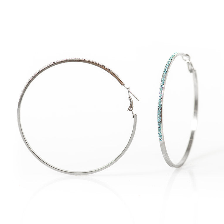 Diamanté Hoop Earrings