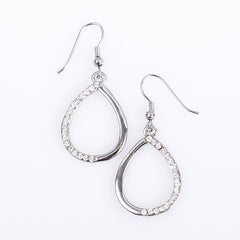 Diamanté Teardrop Earrings