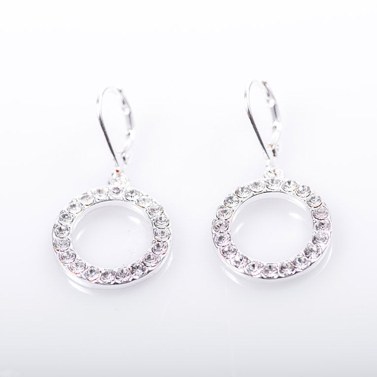 Sparkling Round Earrings