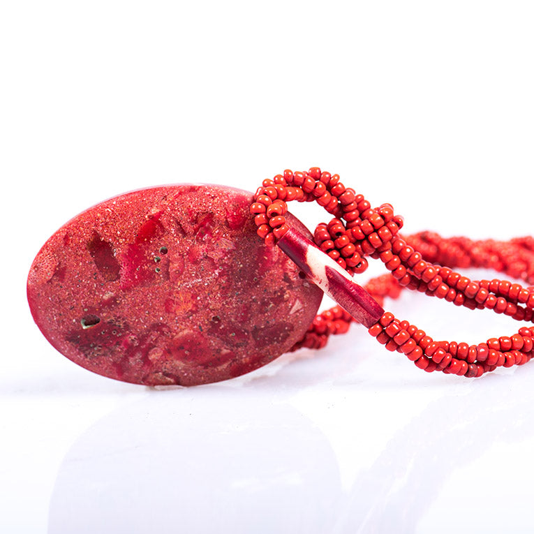Red Rock Drop Necklace