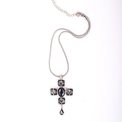 Gorgeous Black Cross Necklace