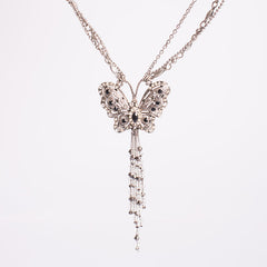 Butterfly Diamanté Necklace