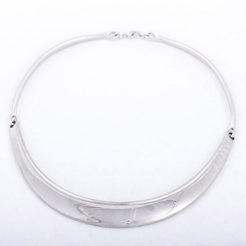 Silver Collar Necklace