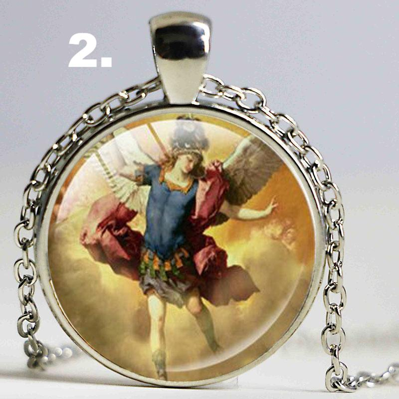 medal picture michael sterling of archangel necklace st fiorentino the saint silver