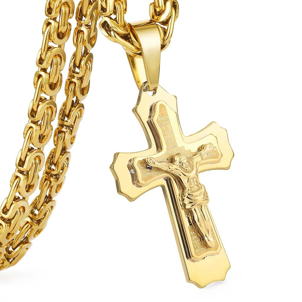 Multilayered cross pendant necklace by his grace multilayered cross pendant necklace aloadofball Choice Image