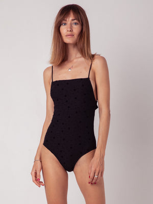 body. black. one piece. souhela ferrah. lingerie. underwear. French