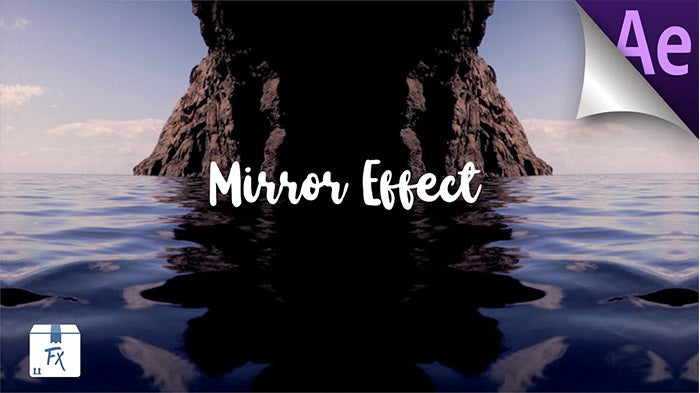 Awesome Drag  and Drop Mirror Effect Adobe After Effects