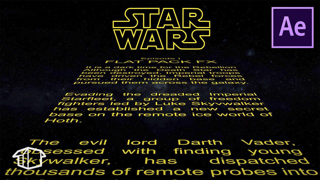 How to make Horizontal Star Wars Title Crawl - Template After Effects CS6