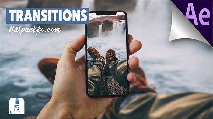 iPhone Swipe Transitions Slideshow After Effects
