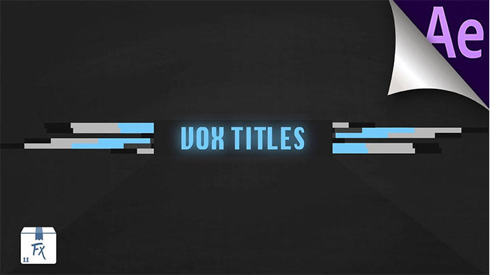 Vox Title Animation Motion Graphics After Effects