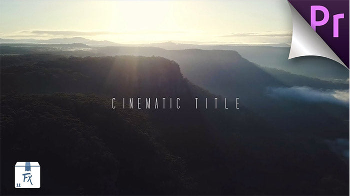 Create Pop up Cinematic Title Premiere Pro