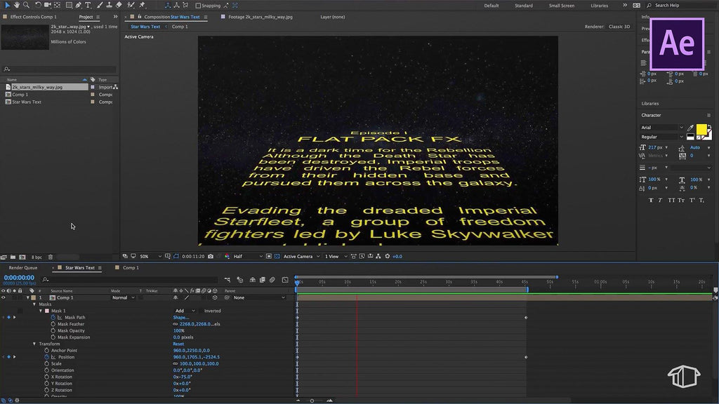 Star Wars Title Crawl - After Effects Template