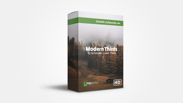 50 Modern Lower Thirds - After Effects