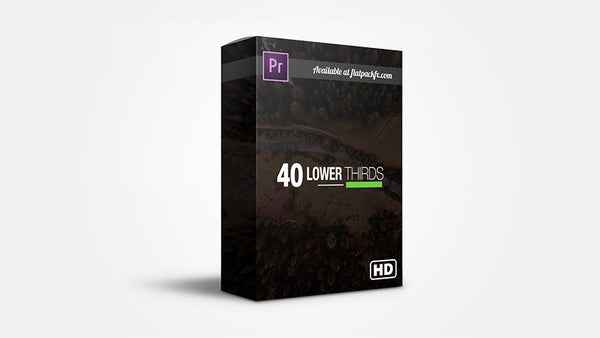 40 Simple Lower Third Titles - Premiere Pro