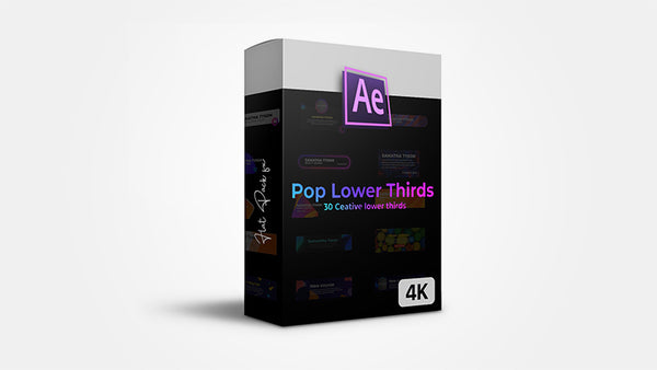 Pop Lower Thirds - After Effects