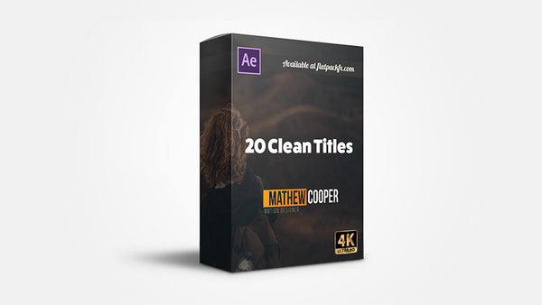20 Clean Titles - After Effects