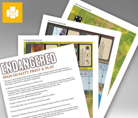 Endangered Deluxe Print & Play