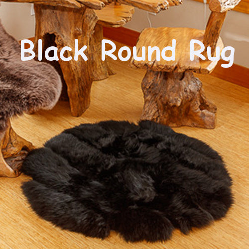 Black and White Round Rugs - Free Shipping
