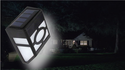 New Solar Powered Wall Mount LED Light