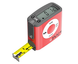Digital Tape Measure, 16 Feet, Red