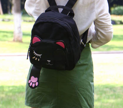 Cat Backpack Canvas Travel Bag