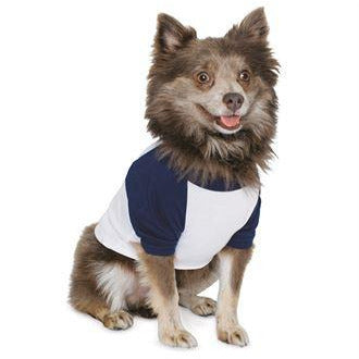 Blank Raglan Dog Shirt for Small to Medium Breeds
