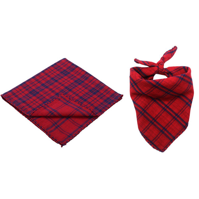 Custom Dog Bandana Reversible Plaid Pet Bandana
