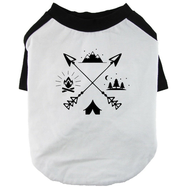 Camping Time Dog Shirt Raglan Sleeve