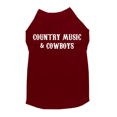 Country Music and Cowboys Dog Shirt