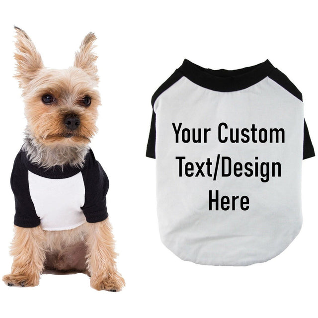 Custom Raglan Dog Shirt for Small to Medium Breeds