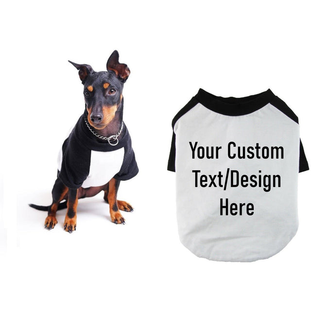 Custom Raglan Dog Shirt for Large Breeds